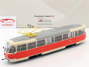 Tatra T3 sporvogn Prag beige / red 1:43 Premium ClassiXXs