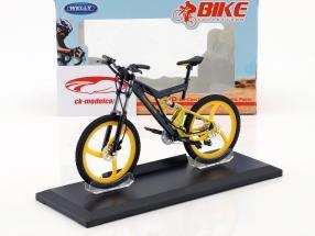 Bicicleta Porsche Bike FS Evolution cinza / amarelo 1:10 Welly