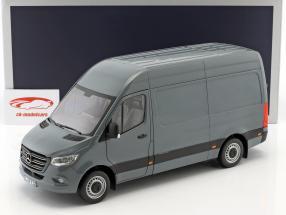 Mercedes-Benz Sprinter van Opførselsår 2018 blå grå 1:18 Norev