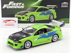 Brian's Mitsubishi Eclipse Opførselsår 1995 film Fast and Furious (2001) grøn 1:18 Greenlight