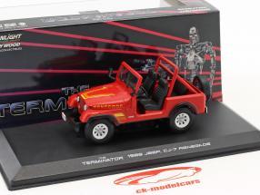 Sarah Conner's Jeep CJ-7 Opførselsår 1983 film Terminator (1984) rød 1:43 Greenlight