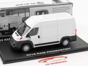 Ram ProMaster 2500 Cargo busje Bouwjaar 2018 wit 1:43 Greenlight
