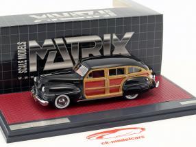 Chrysler Town & Country Wagon  year 1942 black 1:43 Matrix