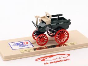 Delamare Deboutteville et Malandin ano de construção 1884 verde / bege / vermelho 1:43 Eligor