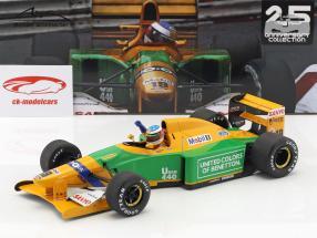Michael Schumacher Benetton B192 #19 4th Monaco GP formula 1 1992 1:18 Minichamps