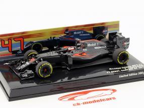 S. Vandoorne McLaren MP4-31 #47 F1 Debut Bahrein GP F1 2016 ASSINATURA EDIÇÃO 1:43 Minichamps