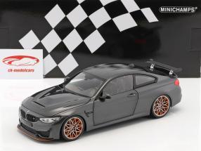 BMW M4 GTS anno di costruzione 2016 grigio metallico 1:18 Minichamps