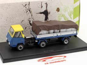 DAF Pony Países Bajos año 1968 azul / amarillo / plata 1:43 AutoCult