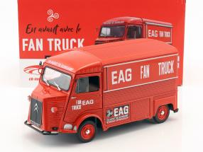 Citroen tipo HY ano de construção 1969 En Avant de Guingamp Fan Truck 2019 vermelho 1:18 Solido
