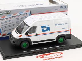 Ram ProMaster 2500 Cargo USPS furgoneta año de construcción 2018 blanco / verde 1:43 Greenlight