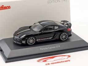 Porsche Cayman GT4 (981c) Bouwjaar 2015 zwart 1:43 Schuco