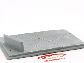 Diorama piastra di base pista 16,5 x 10,5 cm