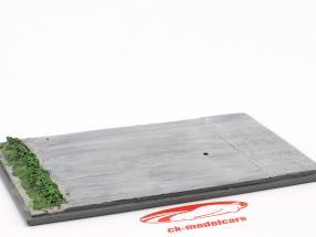 Diorama placa de base pista de corridas 16,5 x 10,5 cm