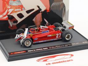 Gilles Villeneuve Ferrari 126CK #27 3 ° Canada GP formula 1 1981 1:43 Brumm