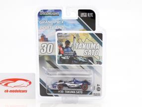 Takuma Sato Honda #30 winnaar Portland GP Indycar Series 2018 1:64 Greenlight
