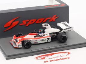 Jacques Laffite Williams FW04 #21 2nd tysk GP formel 1 1975 1:43 Spark