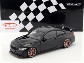 BMW M4 GTS année de construction 2016 noir métallique 1:18 Minichamps