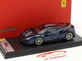 Ferrari 488 Pista ano de construção 2018 Tour de France azul 1:43 LookSmart