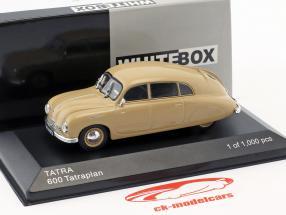 Tatra 600 Tatraplan Opførselsår 1948-1952 beige 1:43 WhiteBox