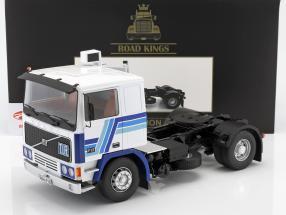 Volvo F12 tractor año de construcción 1977 blanco / azul 1:18 Road Kings