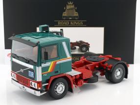 Volvo F12 trator ano de construção 1977 verde / branco / vermelho 1:18 Road Kings