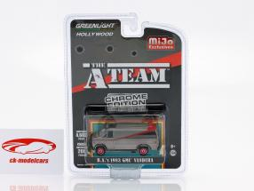 B.A.'s GMC Vandura 1983 serie TV il A-Team (1983-87) cromo strisce 1:64 Greenlight