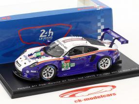 Porsche 911 (991) GT3 RSR #91 segundo LMGTE Pro clase 24h LeMans 2018 1:43 Spark