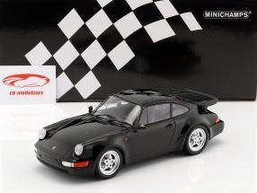 Porsche 911 (964) Turbo ano de construção 1990 preto 1:18 Minichamps