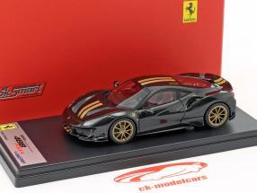 Ferrari 488 Pista année de construction 2018 Daytona noir 1:43 LookSmart