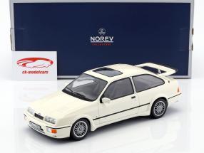 Ford Sierra RS Cosworth Bouwjaar 1986 wit 1:18 Norev