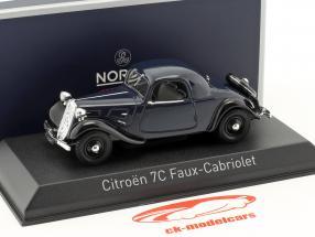 Citroen 7C Faux Cabriolet año de construcción 1934 azul oscuro 1:43 Norev