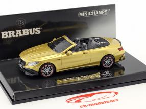 Brabus 850 basé sur Mercedes-Benz AMG S63 cabriolet année de construction 2016 or 1:43 Minichamps