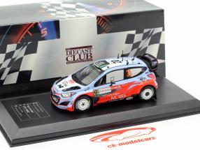 Hyundai i20 WRC #20 segundo Rallye Italia Cerdeña 2015 Padden, Kennard 1:43 Direkt Collections
