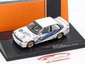 BMW M30 E30 #42 carro de turismo copa do mundo Dijon 1987 CiBiEmme Cecotto, Brancetelli 1:43 Ixo