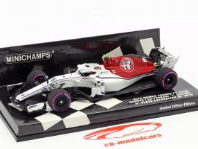 Charles Leclerc Sauber C37 #16 6ª Azerbaijão GP F1 2018 1:43 Minichamps