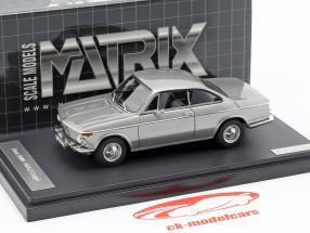 BMW 1602 Baur Coupe ano de construção 1967 prata 1:43 Matrix