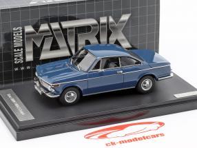 BMW 1602 Baur Coupe anno di costruzione 1967 blu 1:43 Matrix