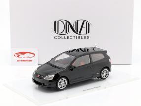 Honda Civic Type R EP3 año de construcción 2004 negro 1:18 DNA Collectibles
