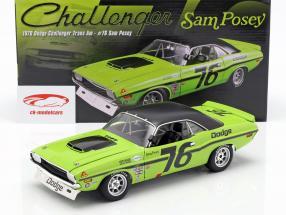 Dodge Challenger Trans Am #76 anno di costruzione 1970 Sam Posey  verde / nero 1:18 GMP