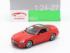 Mercedes-Benz SL 500 Bouwjaar 2012 rood 1:24 Welly