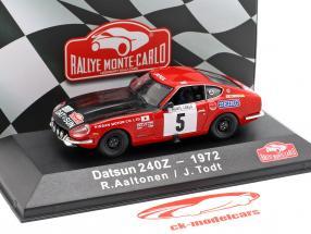 Datsun 240Z #5 tercero Rallye Monte Carlo 1972 Aaltonen, Todt 1:43 Atlas
