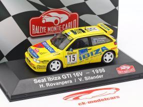 Seat Ibiza GTi 16V #15 Rallye Monte Carlo 1998 Rovanperä, Silander 1:43 Atlas