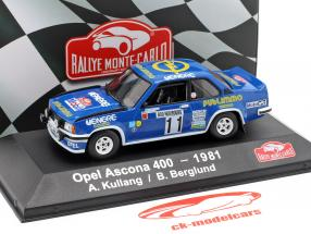 Opel Ascona 400 #11 4. Rallye Monte Carlo 1981 Kulläng, Berglund 1:43 Atlas