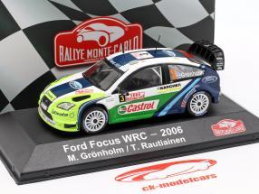 Ford Focus RS WRC 06 #3 gagnant Rallye Monte Carlo 2006 Grönholm, Rautiainen 1:43 Atlas
