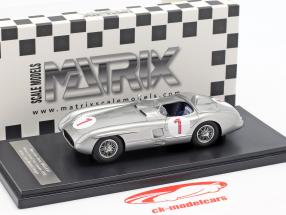 Mercedes-Benz 300 SLR #1 winnaar Zweden GP 1955 Juan Manuel Fangio 1:43 Matrix