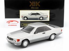 Mercedes-Benz 560 SEC C126 Bouwjaar 1985 zilver 1:18 KK-Scale