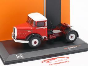 Bernard 150 MB camion anno di costruzione 1951 rosso / bianco 1:43 Ixo