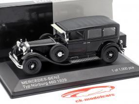 Mercedes-Benz typen Nürburg 460 (W08) Opførselsår 1929 sort 1:43 WhiteBox