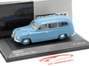 Skoda 1201 carro de la estación año de construcción 1954 azul 1:43 WhiteBox