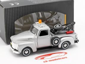 Chevrolet C3100 Tow Truck Silver Metalizado 1:43 Cararama